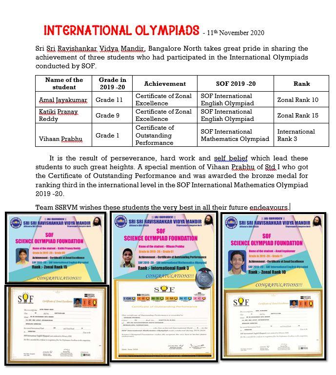 International Olympiads